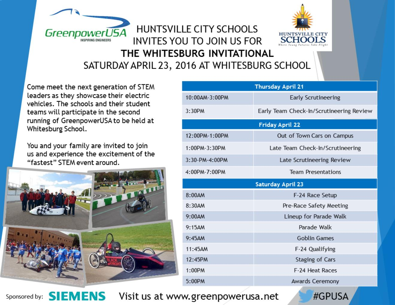 Whitesburg Spring 16 Race Flyer