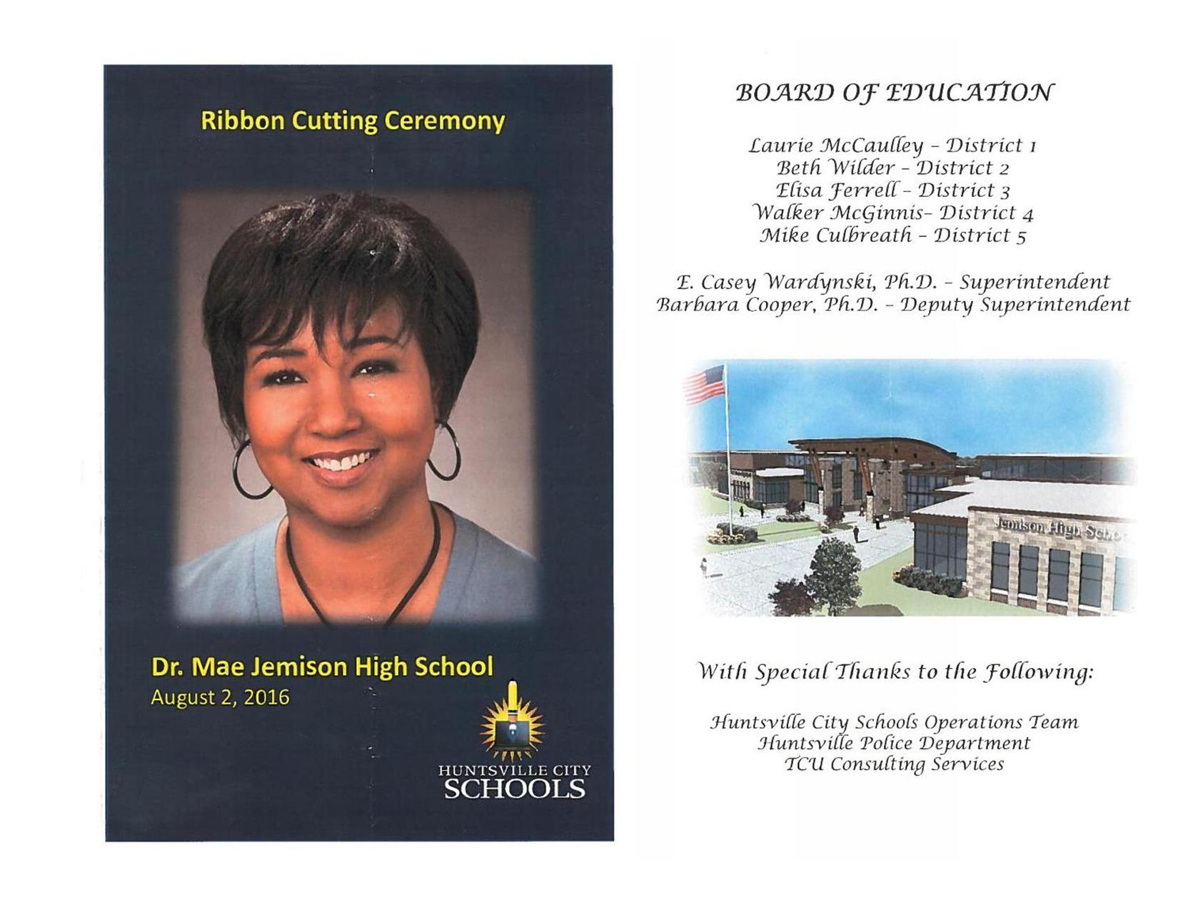 Jemison High School Ribbon Cutting Ceremony 8.2.2016